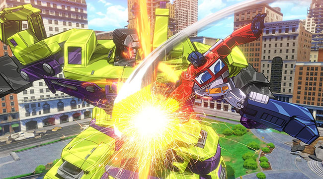 Transformers Devastation video game Devastator vs Optimus Prime
