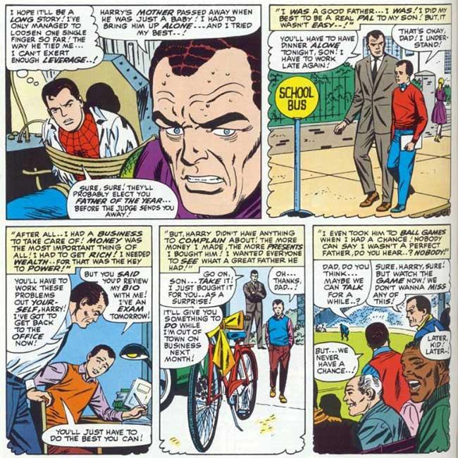 Amazing Spider-Man 40 Norman Osborn flashback Harry childhood
