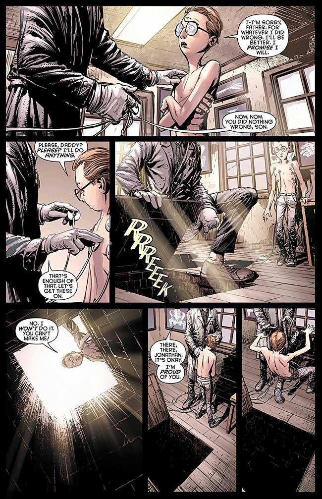 Batman Dark Knight 11 Cycle of Violence Dr. Jonathan Crane Scarecrow origin father Gerald Crane