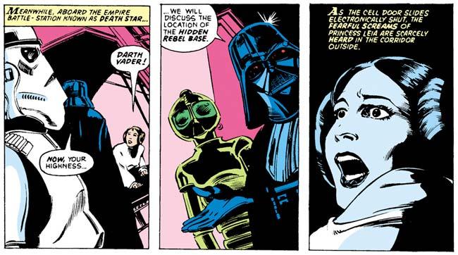 Darth Vader Princess Leia torture Darth Vader Star Wars Omnibus A Long Time Ago Star Wars 2 comic