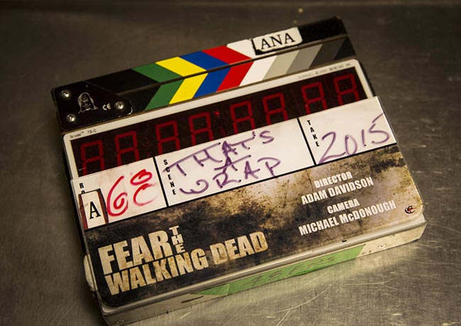 Fear the Walking Dead clap board behind the scenes
