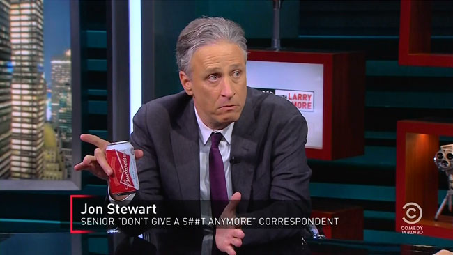 Jon Stewart senior dont give a shit anymore correspondent Larry Wilmore Nightly Show with Larry Wilmore