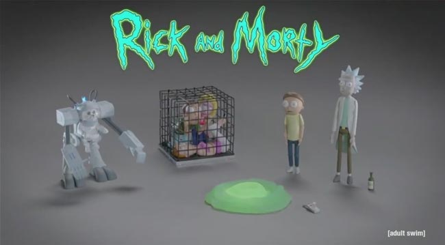 Rick and Morty toy commercial Snuffles dog Adult Swim