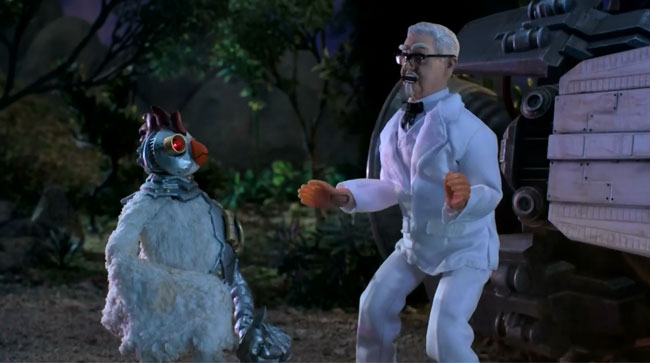 Robot Chicken teams up with Colonel Sanders in KFC commerical