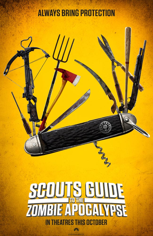 Scouts Guide to the Zombie Apocalypse poster Scouts VS Zombies poster