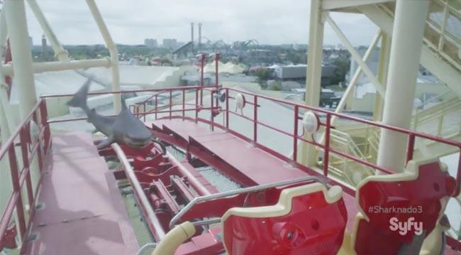 Sharknado 3 rollercoaster shark syfy