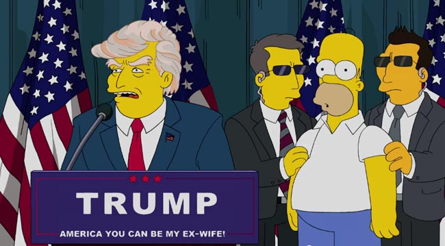 Simpsons vote Donald Trump for President