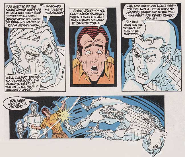Spectacular Spider-Man 180 Norman Osborn ghost Harry Peter Parker
