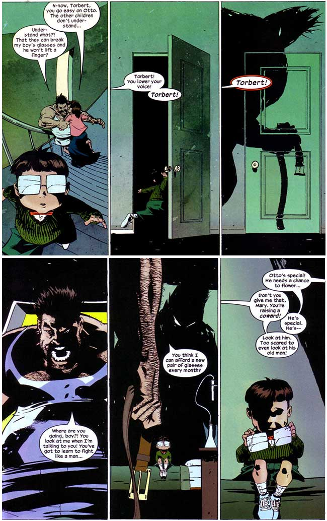 Spider-Man Doctor Octopus Year One 1 father Torbert Octavius Otto mother Mary domestic abuse