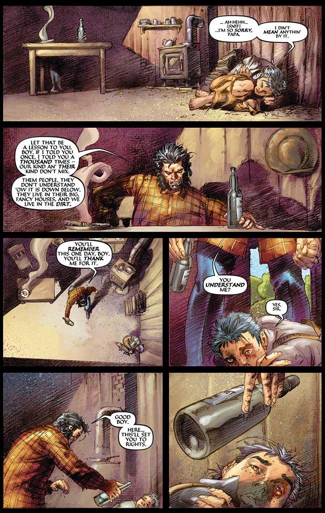 Wolverine Origin 1 Thomas Logan Dog domestic abuse