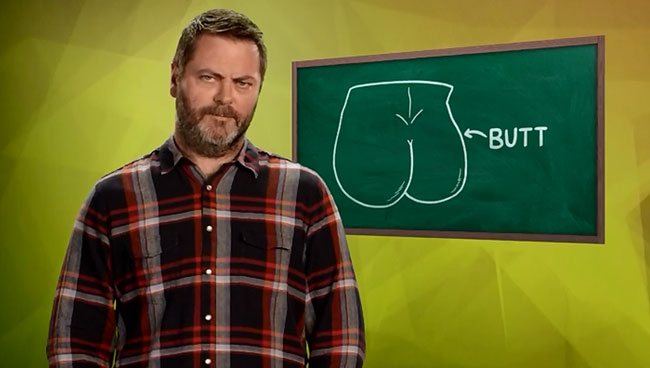 John Oliver teaches Sex Ed class with Nick Offerman