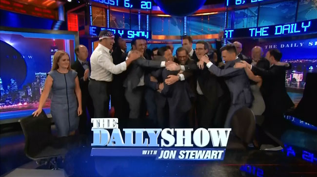 Jon Stewart farewell from entire Daily Show cast ever