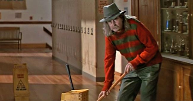 Scream Wes Craven cameo Freddy Krueger janitor