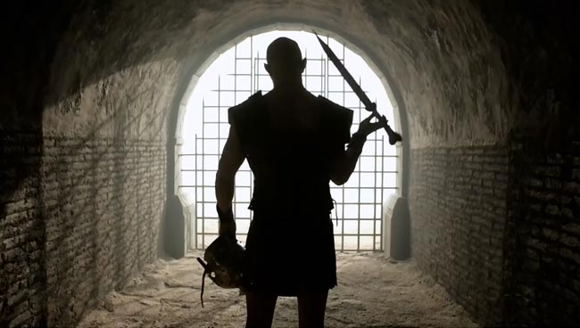 The Strain Born origin Quinlan gladiator bone sword Rupert Penry-Jones