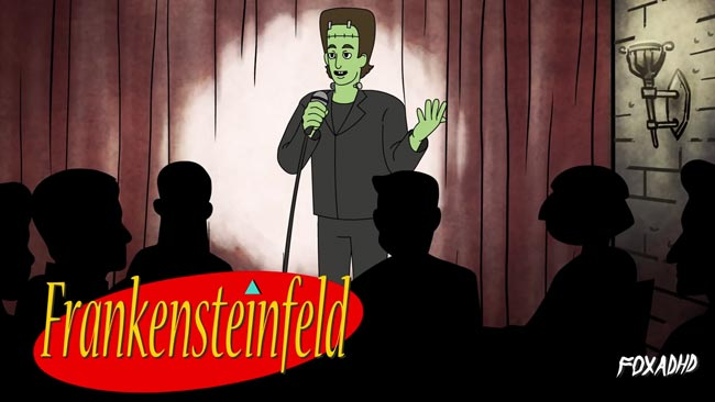 Frankensteinfeld Frankenstein cartoon parody Jerry Seinfeld