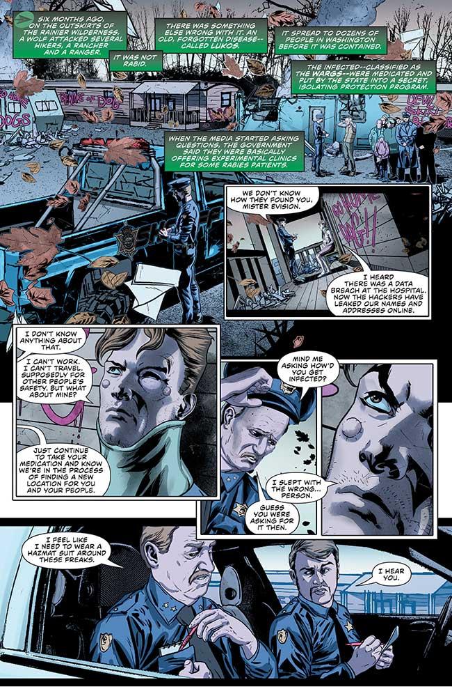 Green Arrow Annual 1 werewolf lukos wargs
