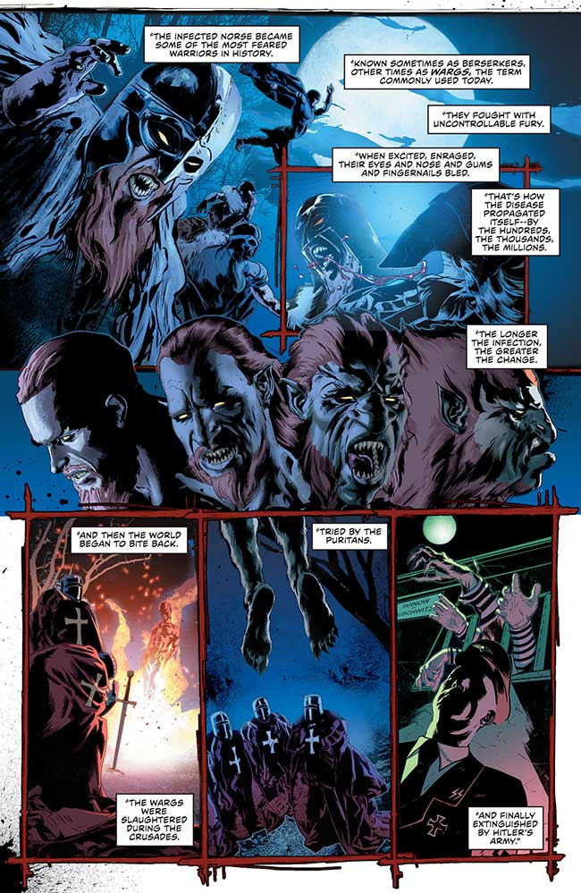 Green Arrow Annual 1 werewolf berserkers wargs