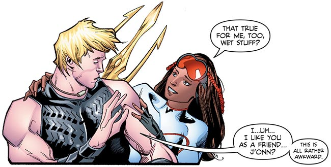 Martian Manhunter 5 Aquaman Pearl kiss gay rejected