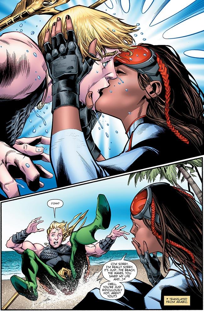Martian Manhunter 5 Aquaman Pearl kiss gay