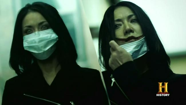 True Monsters History Channel Kuchisake-onna Slit-Mouthed Woman