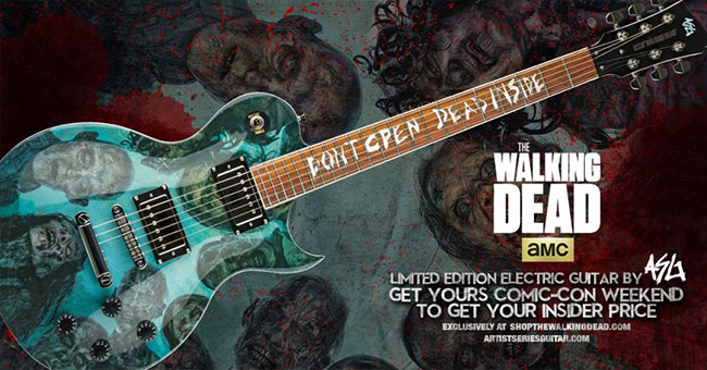 Walking Dead sweepstakes win Zombie Burst Guitar and trip to Alexandria