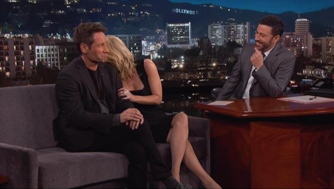Jimmy Kimmel David Duchovny Gillian Anderson