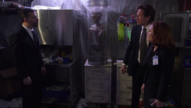 Jimmy Kimmel X-Files parody David Duchovny Gillian Anderson
