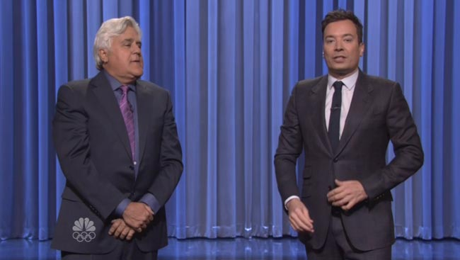 Jay Leno fills in for Jimmy Fallon on Tonight Show