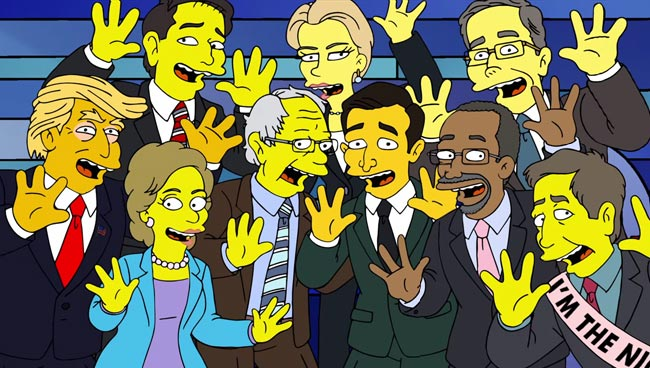 Simpsons dream presidential candidate