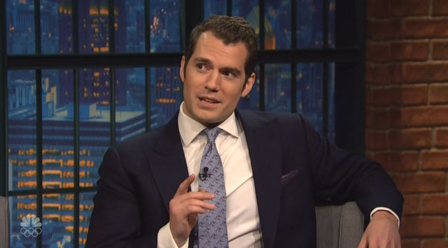 Batman v Superman Henry Cavill nude Seth Meyers
