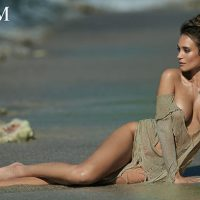 Hannah Davis poses like a Mermaid for Maxim