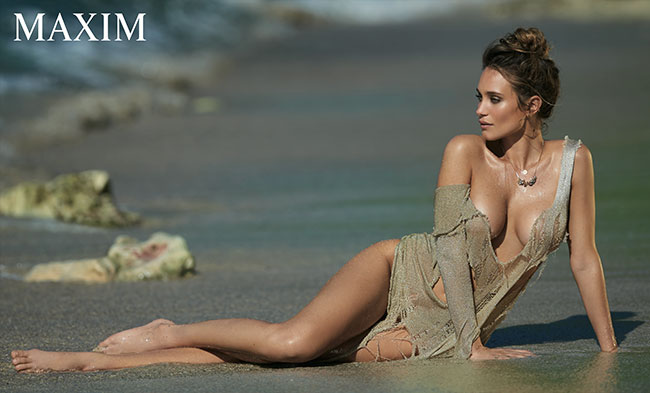 Hannah Davis poses like a Mermaid for Maxim
