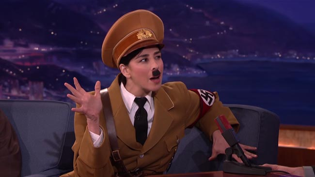 Hitler disavows Trump on Conan Sarah Silverman