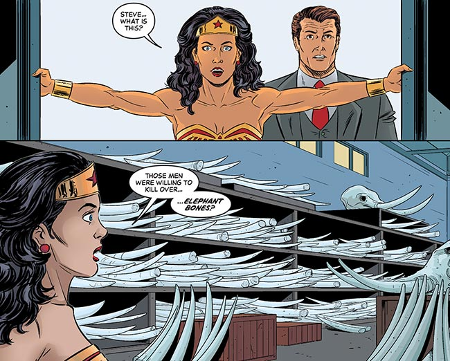 Wonder Woman 77 16 Elephant ivory trade Steve Trevor