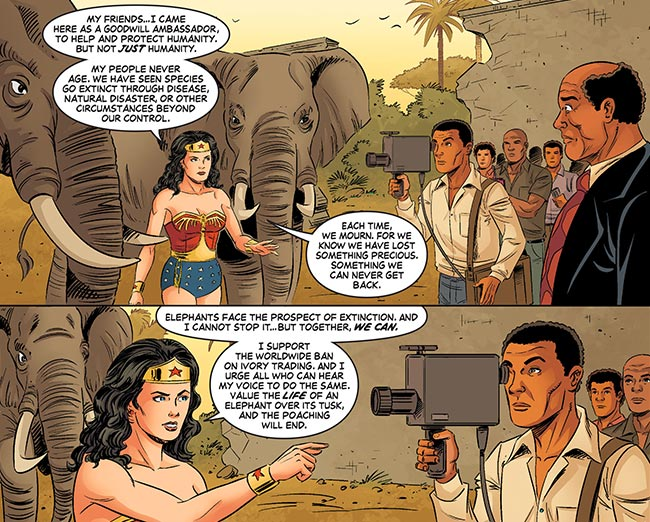 Wonder Woman '77 20 elephant ivory trade