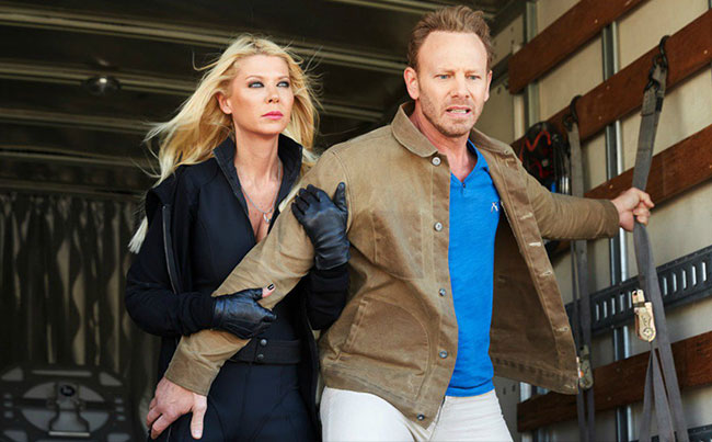Sharknado 4 April Tara Reid Fin Ian Ziering