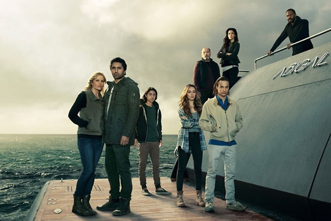 Fear the Walking Dead Abigail boat and crew at Comic-Con