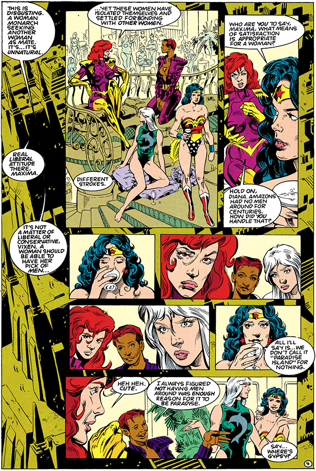Justice League Task Force 8 Wonder Woman lesbian gay Paradise Island Maxima
