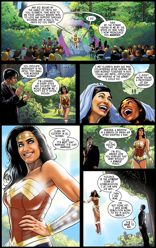 Sensation Comics Featuring Wonder Woman 48 lesbian gay wedding