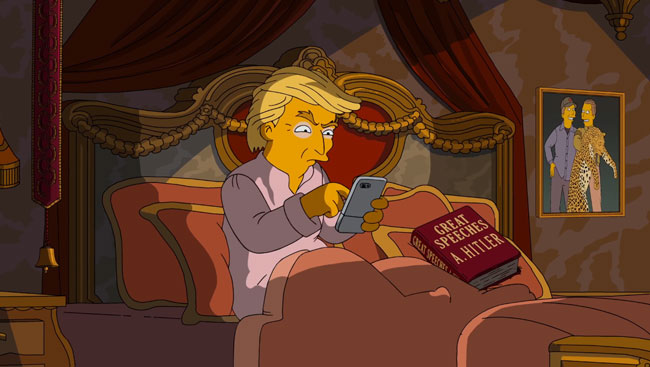 Simpsons 3am phone call Hillary Clinton Donald Trump