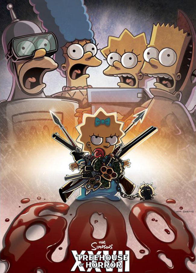 Simpsons Treehouse of Horror XXVII Poster