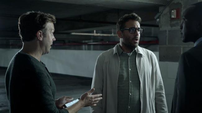 John Oliver's journalism satire stars Jason Sudeikis & Bobby Cannavale