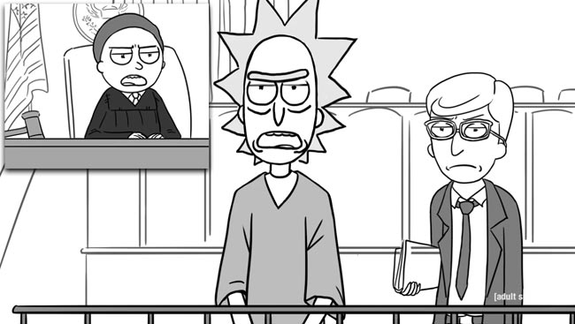 Rick and Morty courtroom reenactment State of Georgia Vs. Denver Fenton Allen