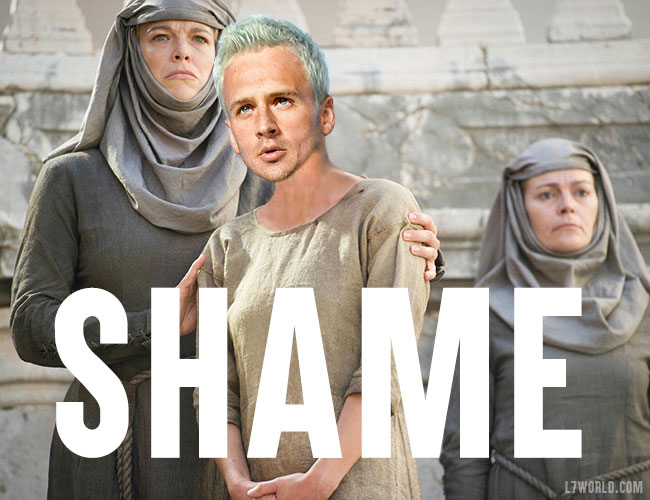 Ryan Lochte robbery Olympics Rio Brazil Game of Thrones Cersei walk of shame meme