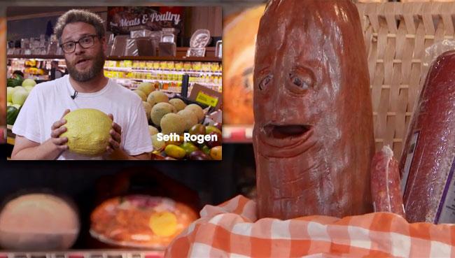Sausage Party prank starring Seth Rogen