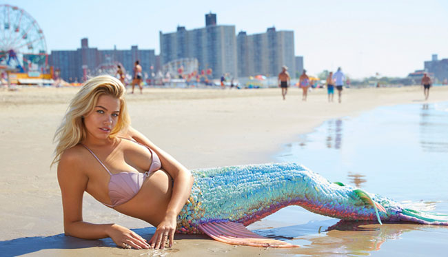 Sports Illustrated Swimsuit Summer of Swim Hailey Clauson mermaid Coney Island