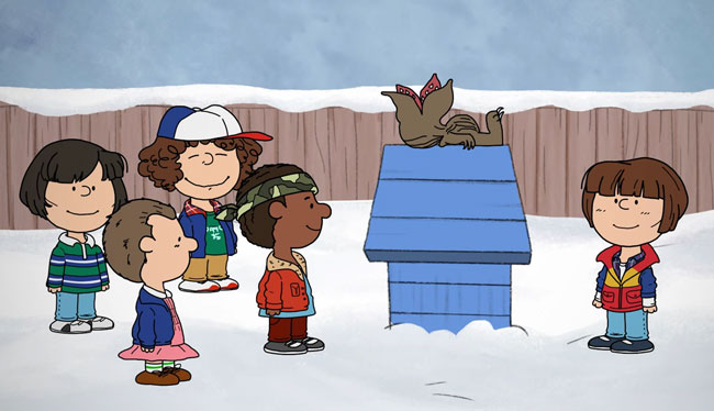 Stranger Things in Charlie Brown Christmas special