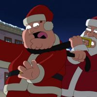 Family Guy Christmas Santa choke Peter S15E09 How the Griffin Stole Christmas Simpsons Son of Zorn