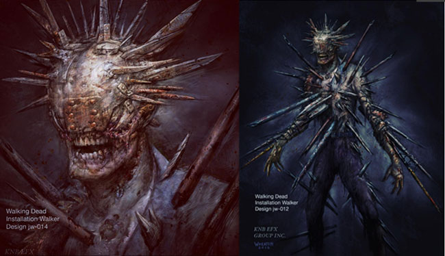 Walking Dead Winslow zombie Installation Walker concept art