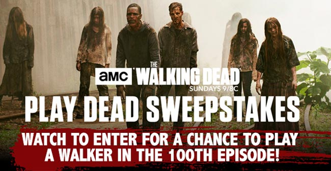 Walking Dead sweepstakes code words walker zombie